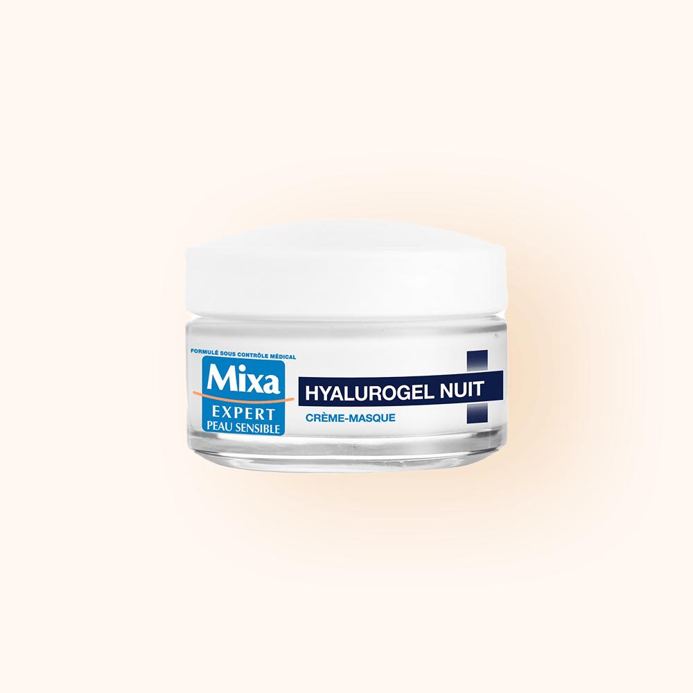 visuel front mixa hyalurogel nuit crème masque hydratante sommeil réparateur